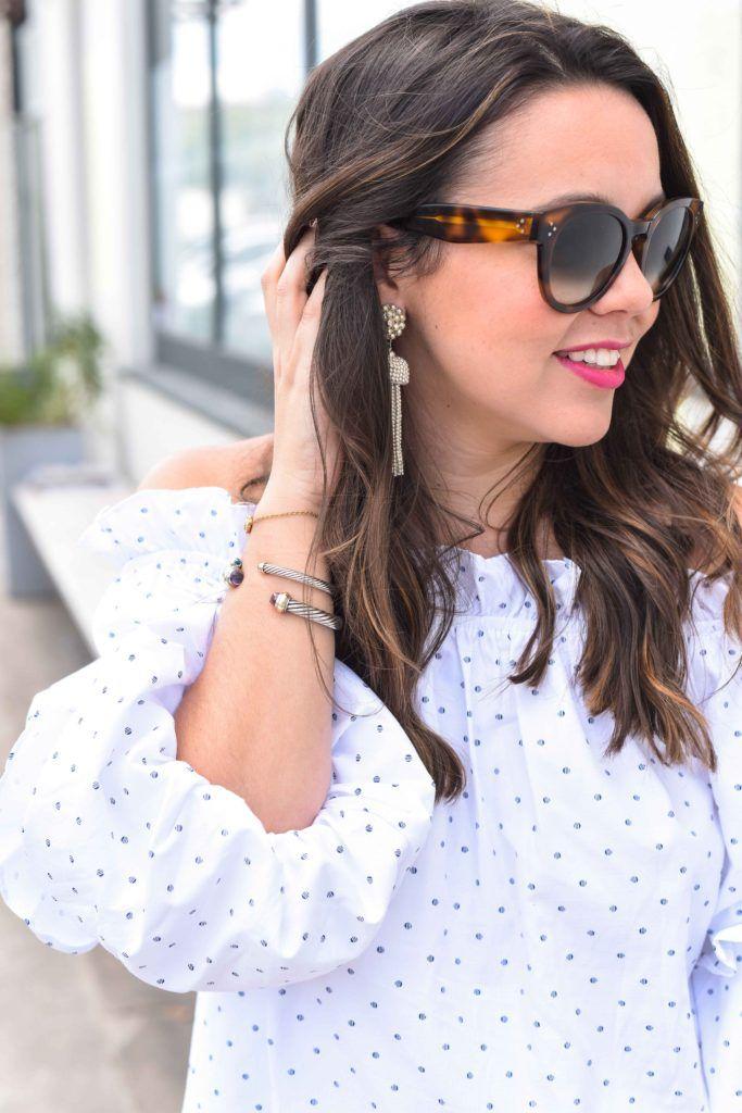 David Yurman cuff bracelets | Preppy bracelet stack | Lisi Lerch tassel earrings | NARS matte lipstick | NARS Funny Face