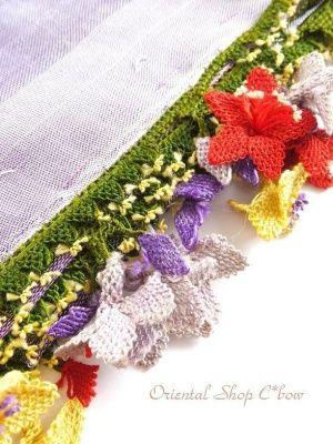 画像4: アイドゥン|アンティークオヤスカーフ|シルク糸|カラフル