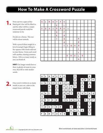 make your own crossword puzzle education printable crossword puzzles crossword puzzle. Black Bedroom Furniture Sets. Home Design Ideas