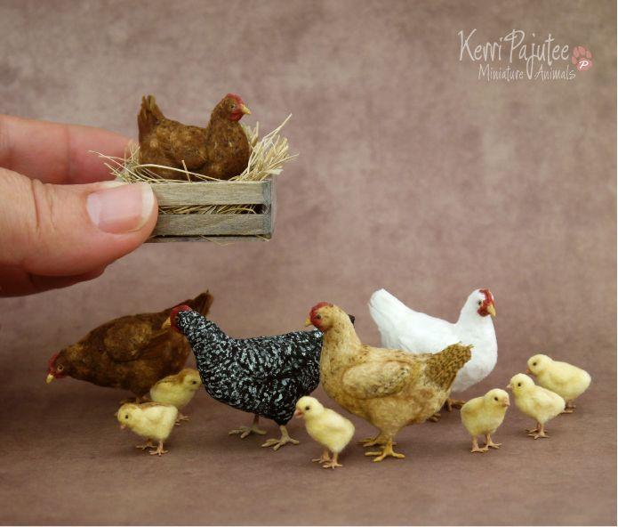 Just Some miniature Chickens by Pajutee.deviantart.com on @DeviantArt