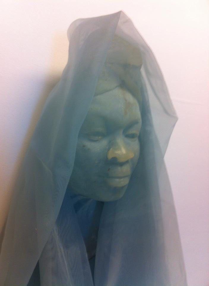 """Close up kunstwerk """"Textiel"""" Made by Frans van Hintum Beeldhouwwerken"""