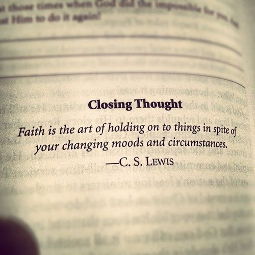 C.S. Lewis - faith