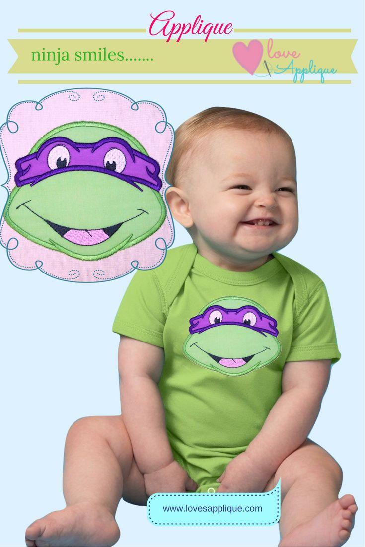 Ninja Turtle Applique. Ninja Turtle Embroidery Designs. Ninja Designs. Ninja Turtle Party Ideas. Ninja Turtle Outfit Ideas. www.lovesapplique.com