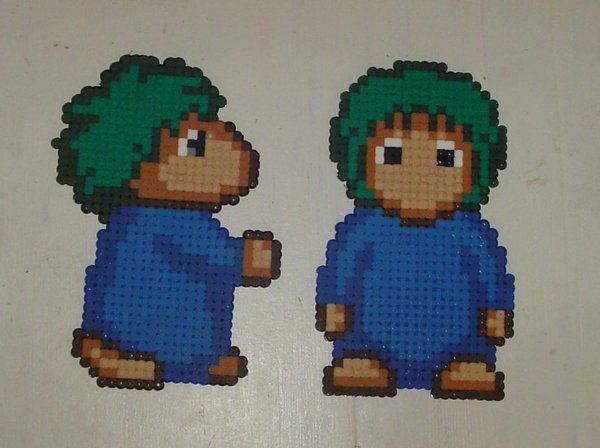 Hama beads - big Lemmings by acidezabs.deviantart.com on @deviantART