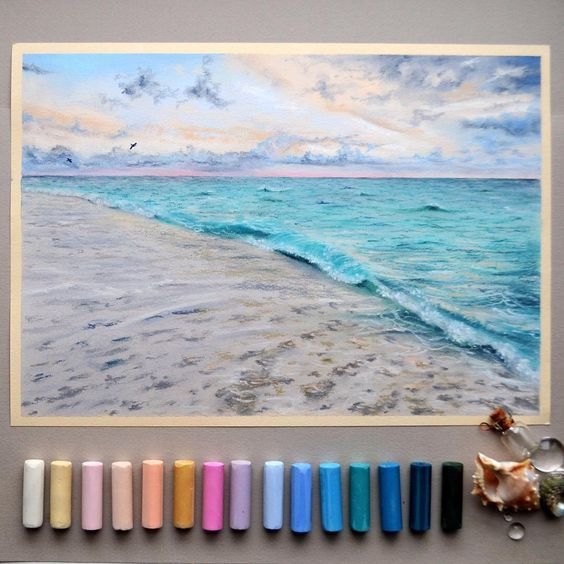 Painting the beach scene yourself