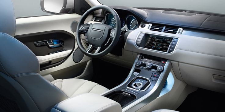 The modern and inspired interior of the 2012 Range Rover Evoque.