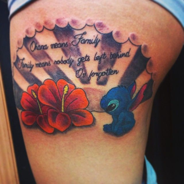 Ohana Tattoo Designs Ideas And Meaning: Ohana Tattoo Lilo & Stitch