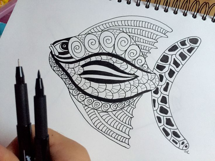My drawing of today : a big fish soon added on www.coloring-pages-adults.com #coloringbook #coloring #adultcoloring #adultcoloringbook