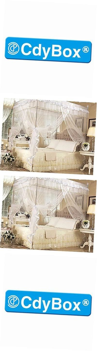 Canopies and Netting 48090: 4 Corners Bed Canopy Twin Full Queen King Mosquito Net (King, White) -> BUY IT NOW ONLY: $51.42 on eBay!