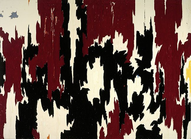 1957 J No. 2 (PH 401) - 1957, oil on canvas, 113 x 155 inches, © Estate of Clyfford Still, Photo: Harholdt
