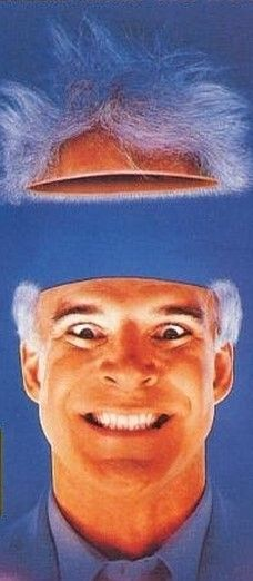 The Man With Two Brains - Steve Martin, Kathleen Turner and James Cromwell