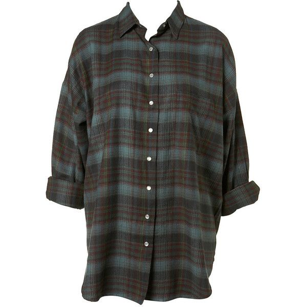 Country Check Shirt ($45) ❤ liked on Polyvore featuring tops, blouses, shirts, flannels, checkered top, oversized flannel shirt, oversized shirt, over sized shirts and checkered flannel shirts