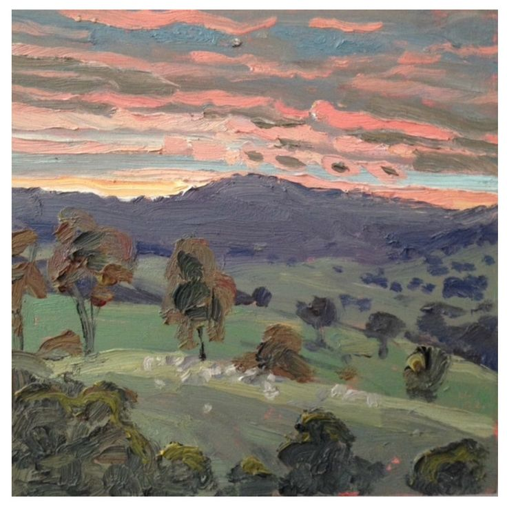 Lucy Culliton - HARTLEY LANDSCAPE LVI, panel, painted in 2002, oil on board, 30 x 30cm.