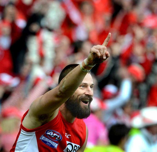 #2012AFLGF Nick Malceski, kicked the Swans 1st and last goal two seal the match via @ludbeyheraldsun