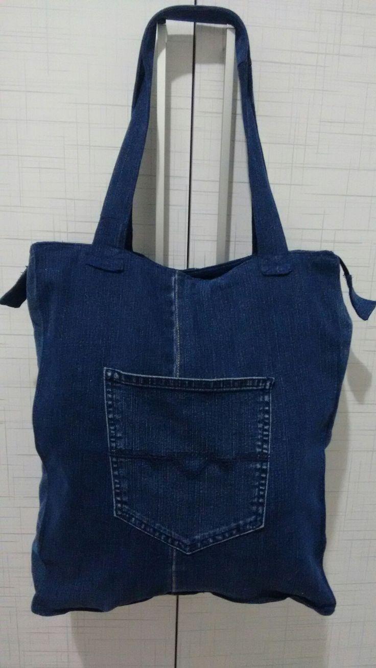 8 best Bolsas Jeans customizadas images on Pinterest