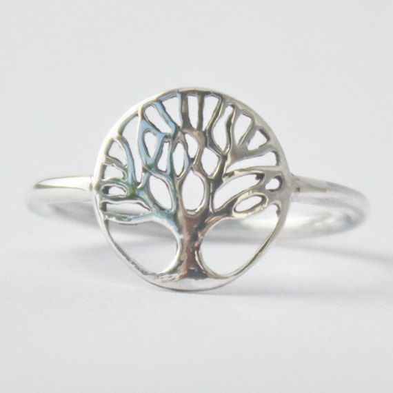 Tree of Life Ring  Yggdrasil  925 sterling by HeartCoreDesign, $17.50