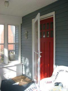 color  Benjamin Moore Heritage Red door
