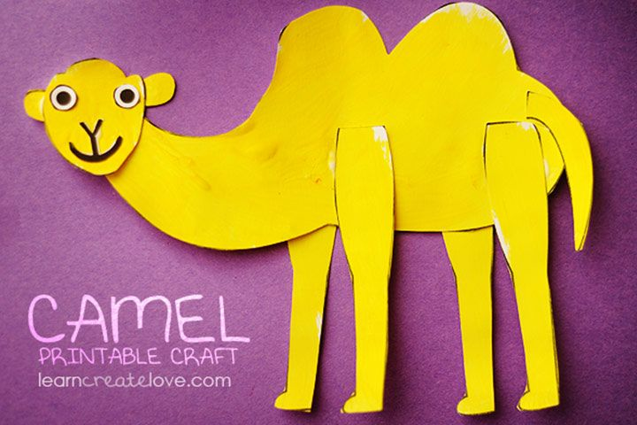 Camel Crafts For Kids - Printable Camel Craft