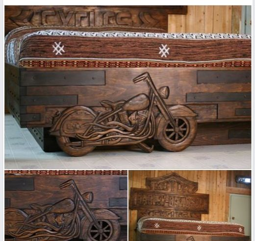 Harley Davidson bed, sculpted by my friend Jérome Grenier. Gorgeous!!