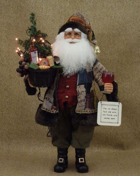 Wine Santa - Lighted Karen Didion CC17-13