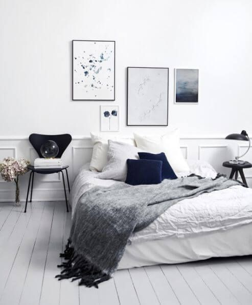 77 Gorgeous Examples of Scandinavian Interior Design. 15 must see White Grey Bedrooms Pins   Grey bedroom decor  Grey