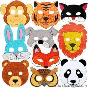 маски животных из бумаги своими руками