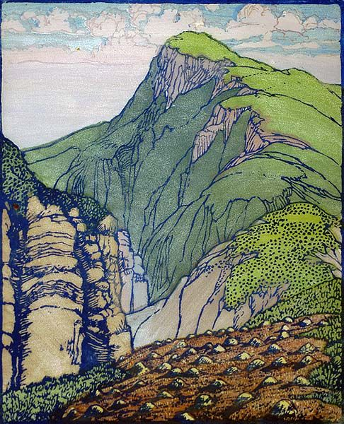 South Mountain - Color Block Print by Frances Gearhart