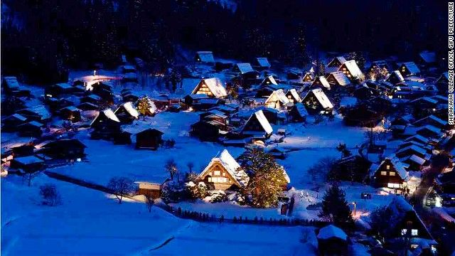 Located in the Japanese Alps, the once-isolated, rural mountain villages of Shirakawa-gō and Gokayama both sport a unique style of Japanese vernacular architecture known as Gasshō-zukuri -- distinct for their thatched, steeply slanting roofs resembling two hands in prayer.