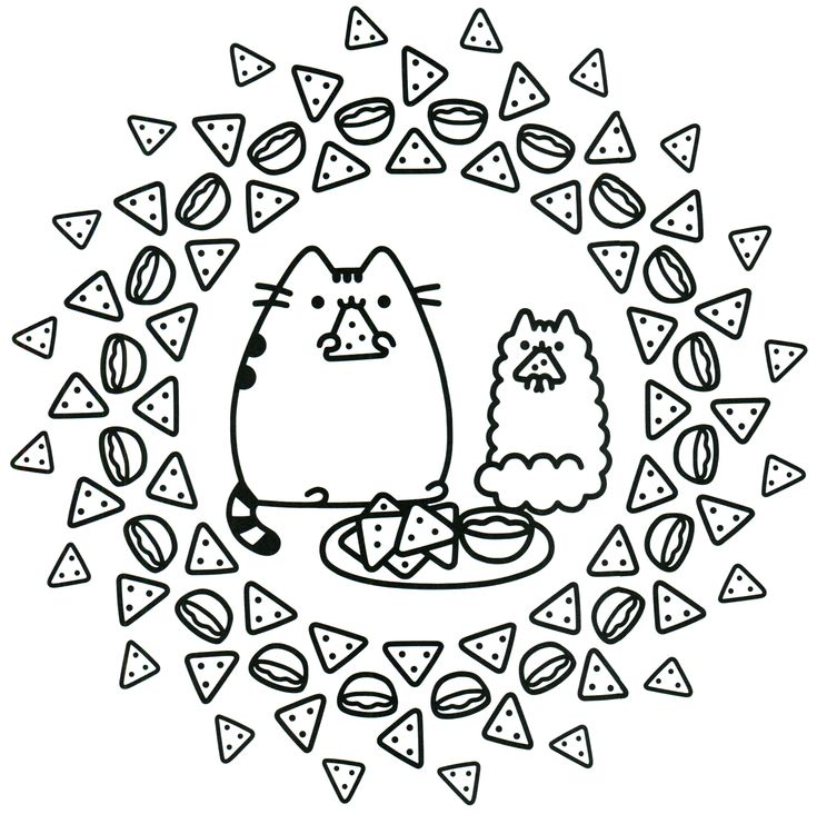 Pusheen And Stormy Coloring Pages
