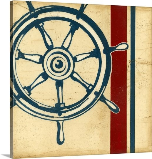 Old Fashioned Captains Wheel Wall Decor Embellishment - Wall Art ...