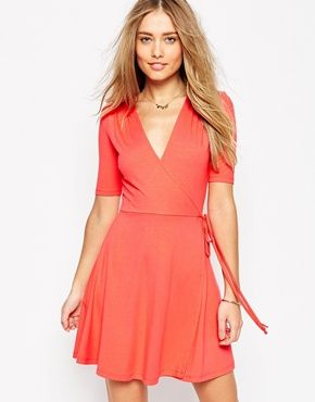 ASOS Mini Tea Dress with Wrap Front