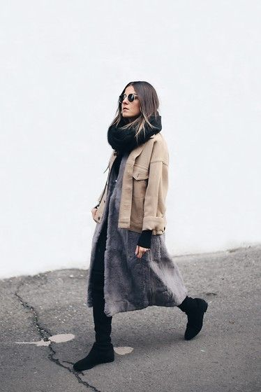 Get this look: http://lb.nu/look/7969726  More looks by Elif Filyos: http://lb.nu/thefashionmedley  Items in this look:  Stuart Weitzman Lowland   #artistic #casual #street #montreal #winter #lowland #fur #winterlook