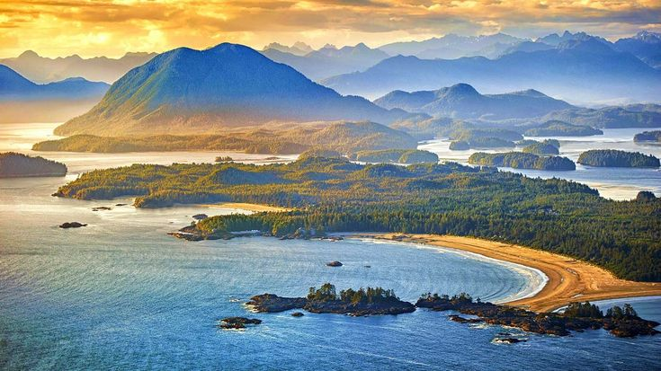 Aerial shot of Tofino with Clayoquot Sound, British Columbia, Canada (© Arnab Banerjee/Tandem Still + Motion) © (Bing New Zealand) | Design.info