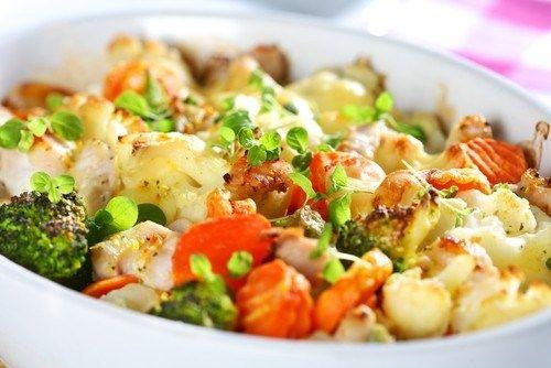 Zapečená zelenina so smotanovou omáčkou