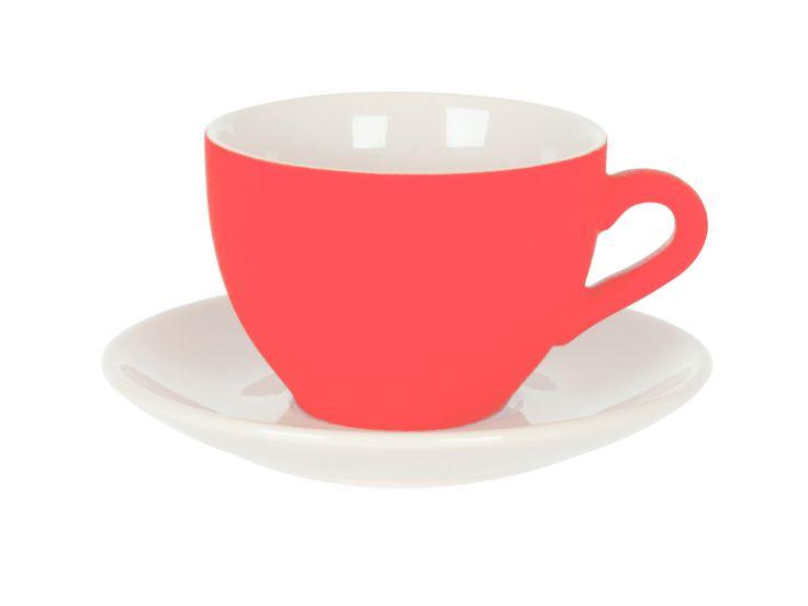 Silk Neon Orange Cup & Saucer