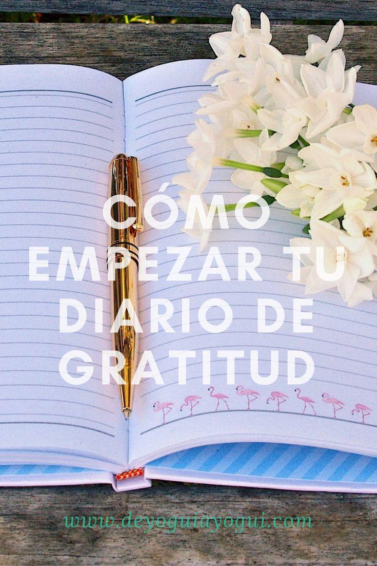 Cómo empezar tu diario de gratitud