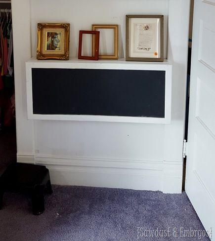 Wall-mounted 'Secretary Desk' for kids! {Sawdust & Embryos}