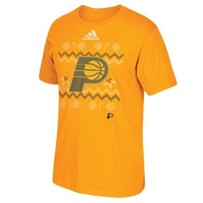 Indiana Pacers Christmas Day Ugly Sweater On-Court T-Shirt 2016: Indiana Pacers Christmas Day Ugly Sweater… #nbastore #nbastoreeurope
