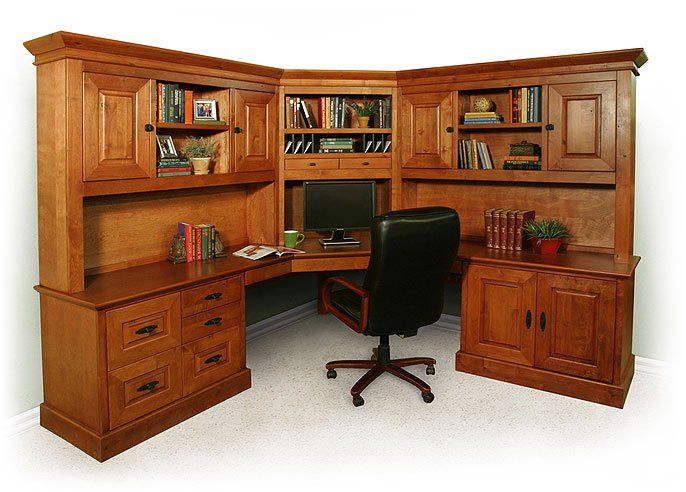 corner desk with hutch  Google Search  Office Ideas