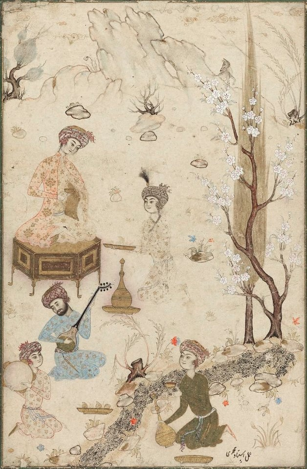 Entertained Persian (2nd Half of 16th Century CE Safavid Miniature) -Hamza Mirza