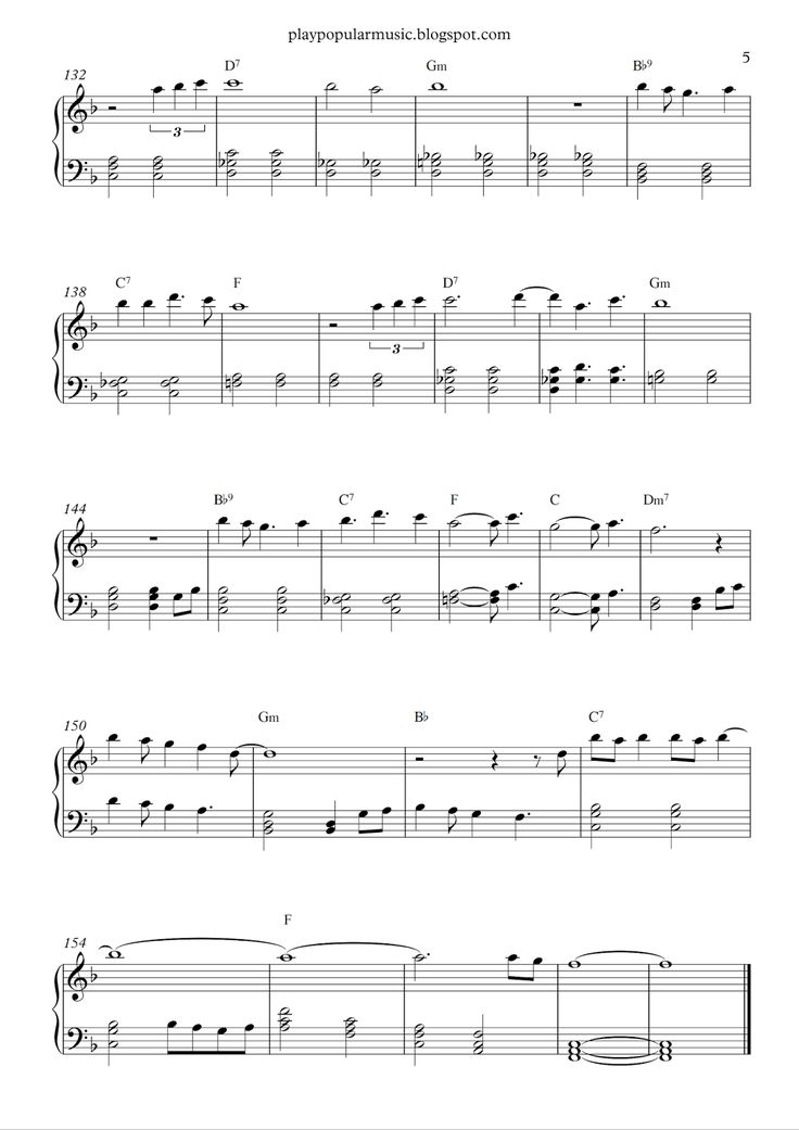 popular piano sheet music free pdf