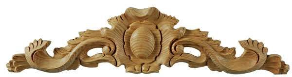 Wild Goose Leaf Pediment Centre 100x440x20mm - wood carvings - pine - WILD GOOSE Leaf Pediment Centre 100x440x20mm - Timber, Tool and Hardware Merchants established in 1933