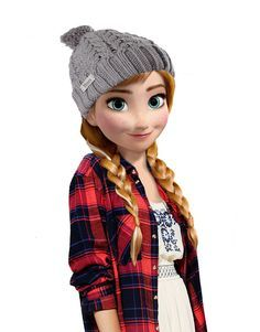 """Like my new look? Elsa picked it out! She says it's from one of her """"shabby chic"""" magazines."""