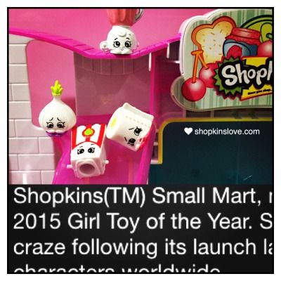 Did you know that Shopkins Small Mart is the 2015 Girl Toy of the Year? #shopkins #smallmart #shopkinsmagazine #spkfan