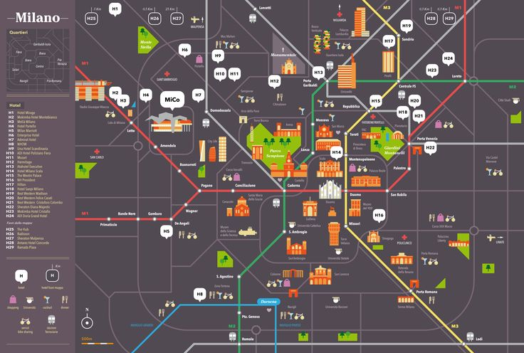 Printable tourist map showing the main attractions of ...