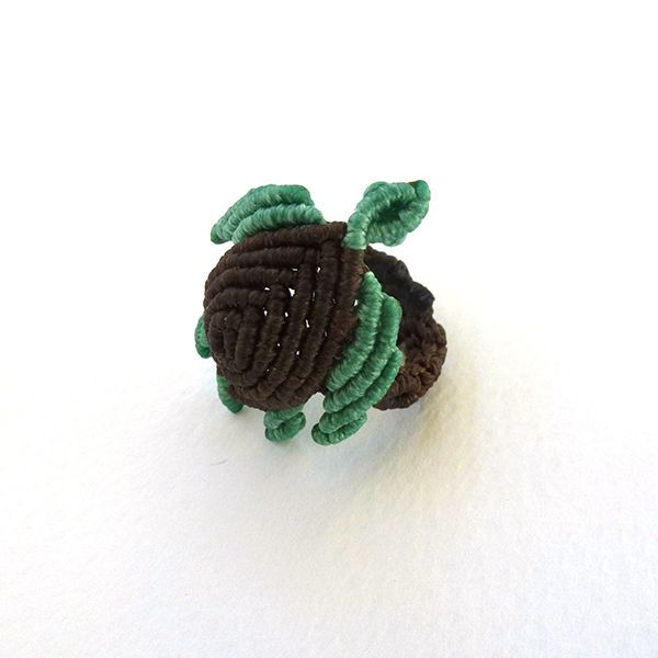 """Sea turtle jewelry-""""Mystify Macrame"""" Ring  12.00€  Μacrame ring from Cyprus.  Handmade macrame ring made of waxed polyester."""