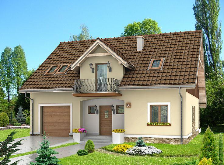 DOM.PL™ - Projekt domu HG-C1A CE - DOM AL1-60 - gotowy projekt domu