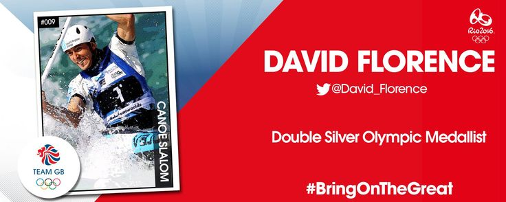 Double silver medal winning Olympian David Florence will be competitiong for Team GB at Rio 2016 and compete in both the C1 and C2 classes.