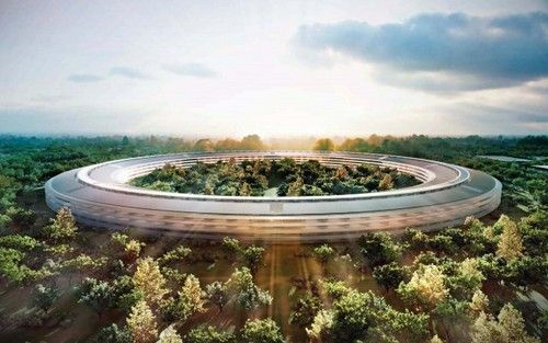 future, architecture, building, Apple, Spaceship, Campus 2, Cupertino, ca, usa, Steve Jobs, Peter Oppenheimer, sctructure, California