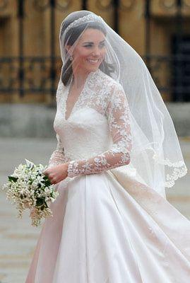 Kate Middleton's Wedding Dress and Veil
